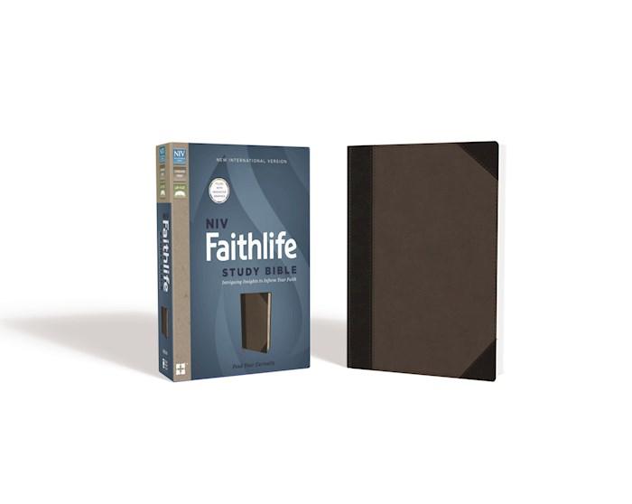 NIV Faithlife Study Bible-Gray/Black Leathersoft | SHOPtheWORD