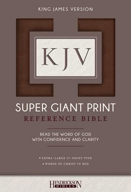 KJV Super Giant Print Reference Bible-Brown Flexisoft   SHOPtheWORD