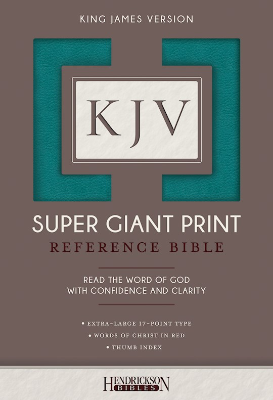 KJV Super Giant Print Reference Bible-Turquoise Flexisoft Indexed | SHOPtheWORD