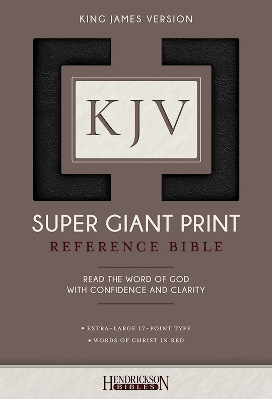 KJV Super Giant Print Reference Bible-Black Imitation Leather | SHOPtheWORD
