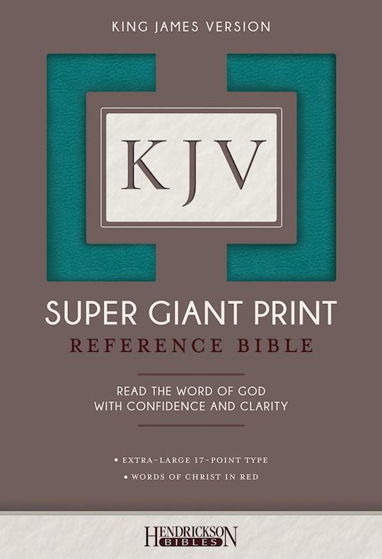 KJV Super Giant Print Reference Bible-Turquoise Flexisoft | SHOPtheWORD