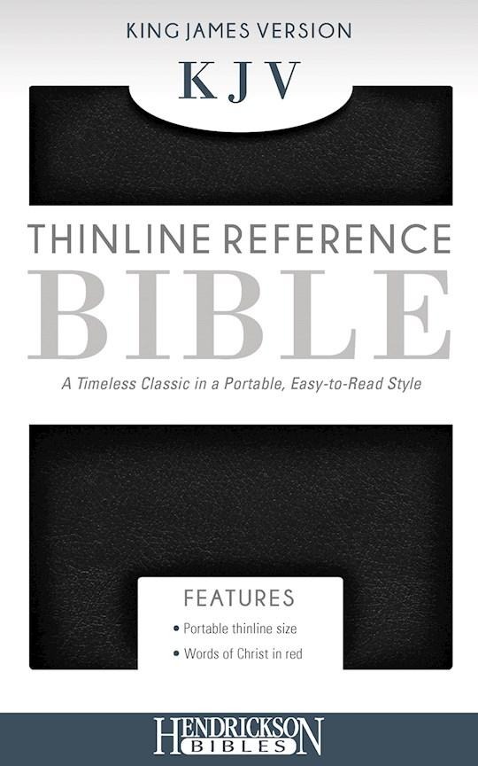 KJV Thinline Reference Bible-Black Imitation Leather | SHOPtheWORD