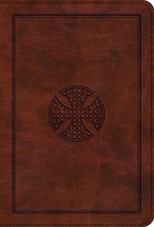 ESV Large Print Compact Bible-Brown Mosaic Cross Design TruTone | SHOPtheWORD