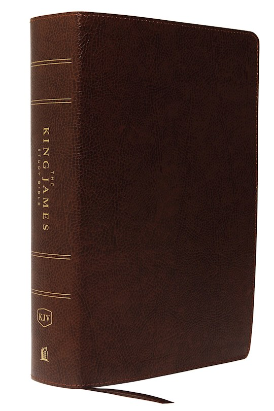 KJV Study Bible (Full-Color)-Brown Bonded Leather | SHOPtheWORD