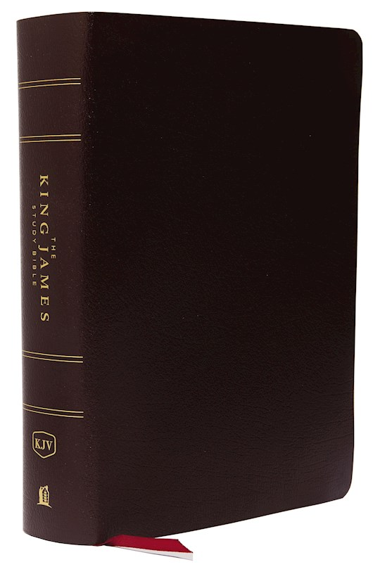KJV Study Bible (Full-Color)-Burgundy Bonded Leather Indexed | SHOPtheWORD