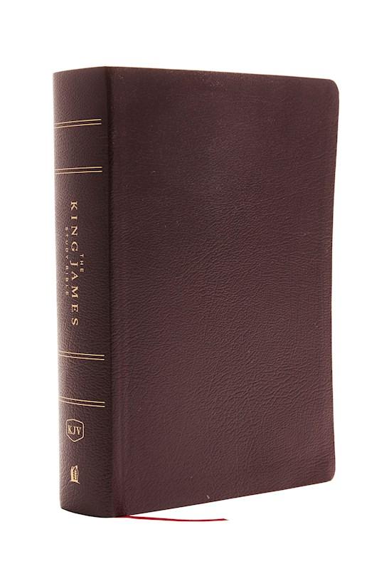 KJV Study Bible (Full-Color)-Burgundy Bonded Leather | SHOPtheWORD