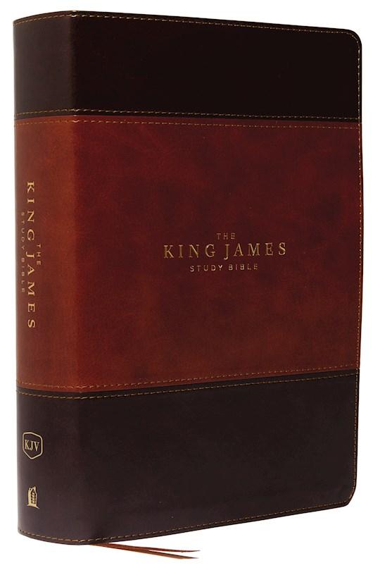 KJV Study Bible (Full-Color)-Brown/Dark Brown Leathersoft   SHOPtheWORD