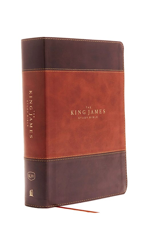 KJV Study Bible (Full-Color)-Brown/Dark Brown Leathersoft Indexed | SHOPtheWORD