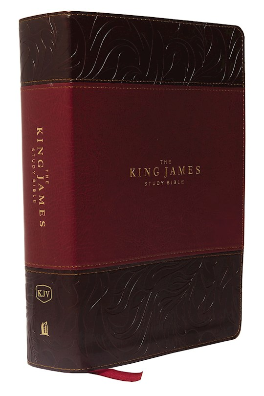 KJV Study Bible (Full-Color)-Burgundy/Dark Burgundy Leathersoft | SHOPtheWORD