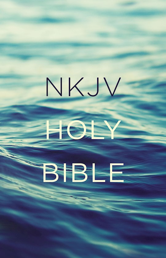 NKJV Value Outreach Bible-Blue Scenic Softcover | SHOPtheWORD