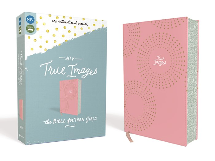NIV True Images Bible For Teen Girls-Pink Leathersoft | SHOPtheWORD