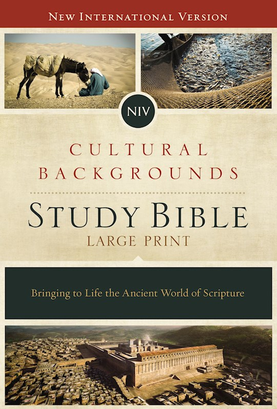NIV Cultural Backgrounds Study Bible/Large Print-Hardcover | SHOPtheWORD
