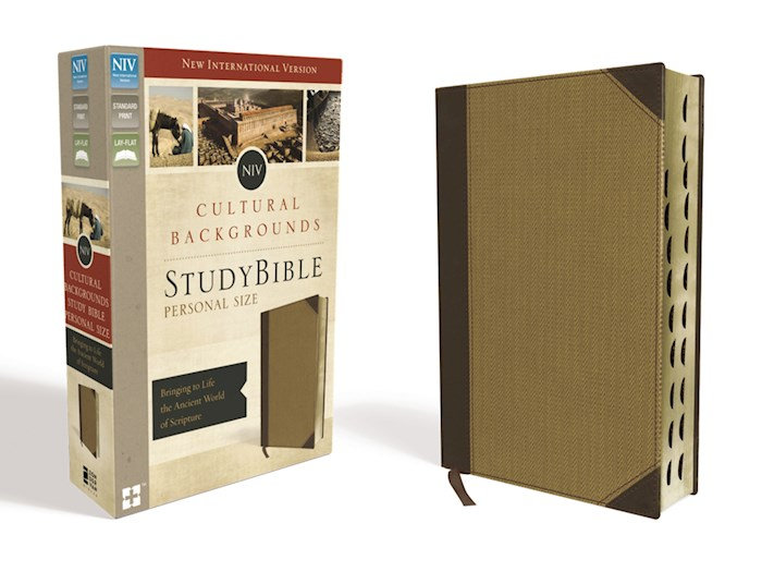 NIV Cultural Backgrounds Study Bible/Personal Size-Brown/Tan Leathersoft Indexed | SHOPtheWORD