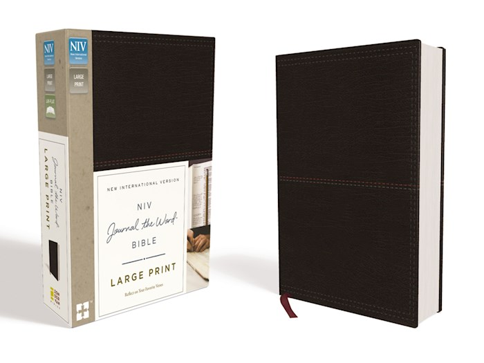 NIV Journal The Word Bible/Large Print-Black Leathersoft | SHOPtheWORD