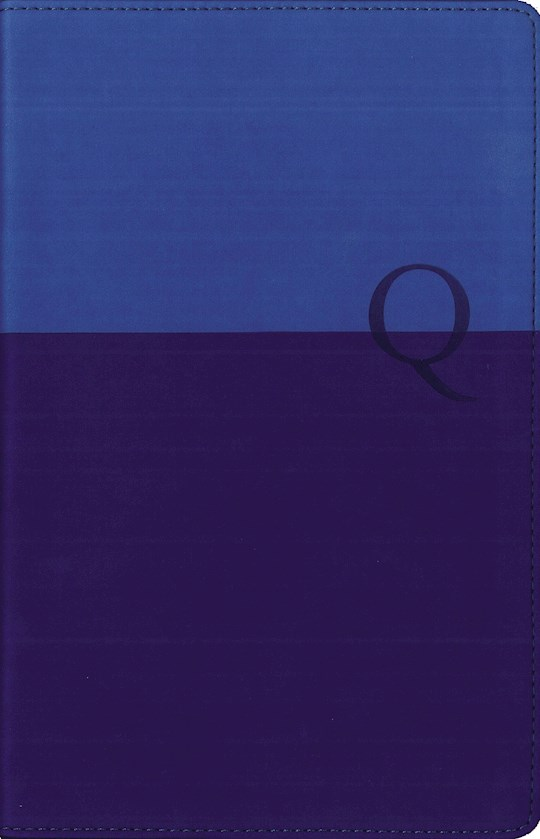 NIV Quest Study Bible/Personal Size-Blue Leathersoft Indexed | SHOPtheWORD