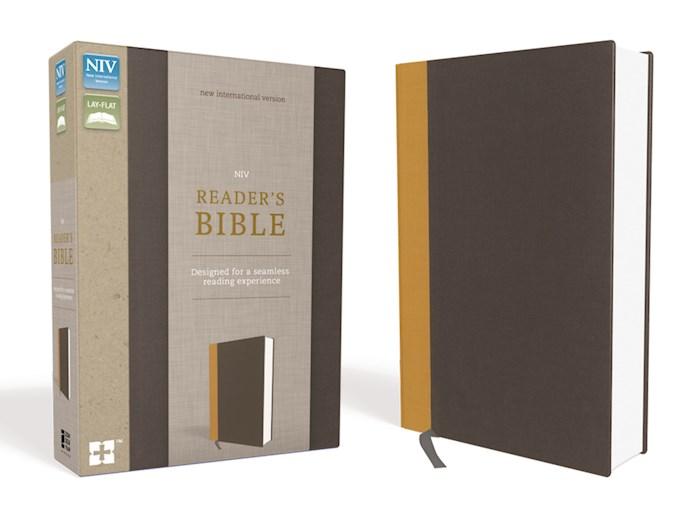 NIV Reader's Bible-Gold/Gray Hardcover  | SHOPtheWORD