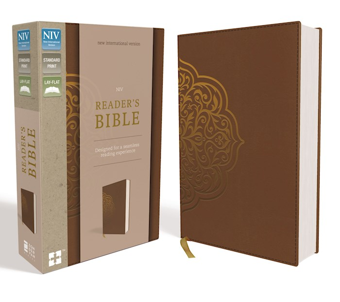 NIV Reader's Bible-Chestnut Leathersoft (Not Available-Out Of Print) | SHOPtheWORD