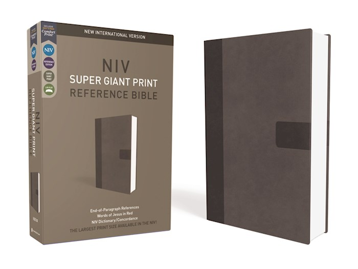 NIV Super Giant Print Reference Bible-Charcoal Leathersoft   SHOPtheWORD