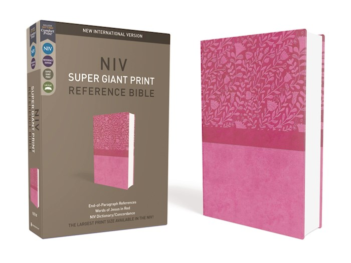 NIV Super Giant Print Reference Bible-Cranberry Leathersoft  | SHOPtheWORD