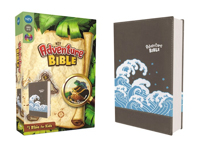NIV Adventure Bible (Full Color)-Gray Leathersoft | SHOPtheWORD