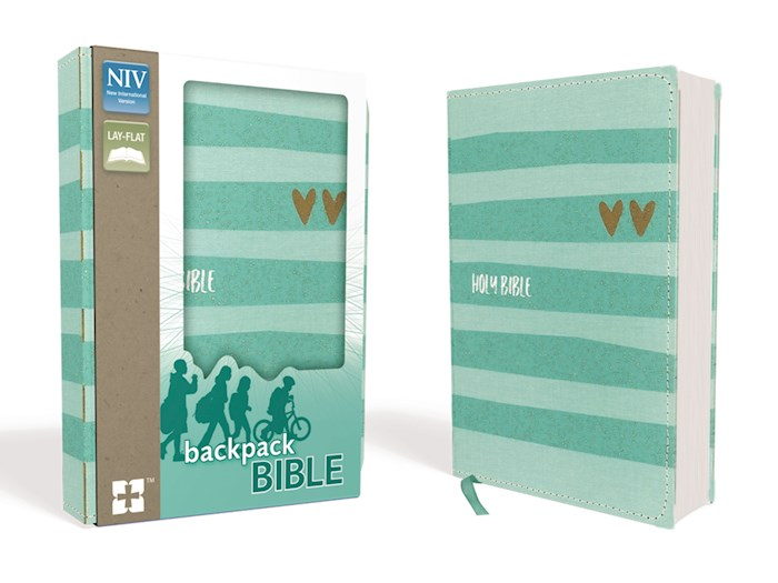 NIV Backpack Bible/Compact-Turquoise/Gold Flexcover | SHOPtheWORD