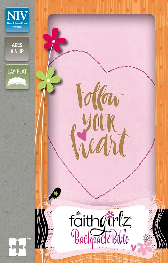 NIV FaithGirlz! Backpack Bible/Compact-Pink Leathersoft | SHOPtheWORD