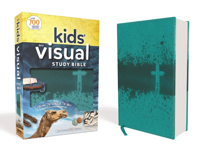 NIV Kids' Visual Study Bible (Full Color)-Teal Leathersoft | SHOPtheWORD
