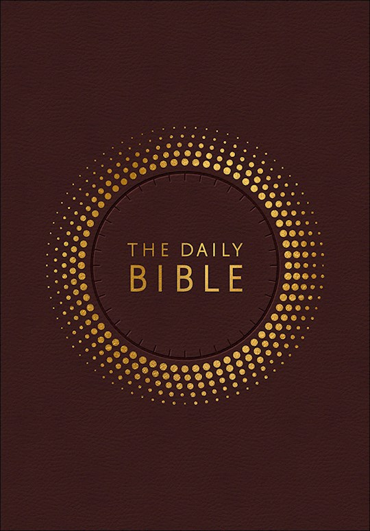 NIV Daily Bible In Chronological Order-Burgundy Milano Softone | SHOPtheWORD