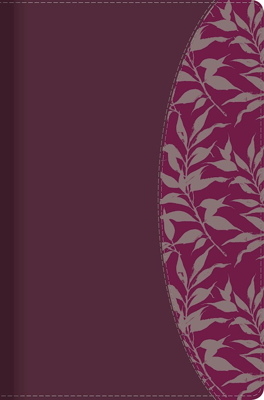 Span-RVR 1960 Study Bible For Women (Biblia de Estudio Para Mujeres)-Red Wine/Fuchsia LeatherTouch Indexed | SHOPtheWORD