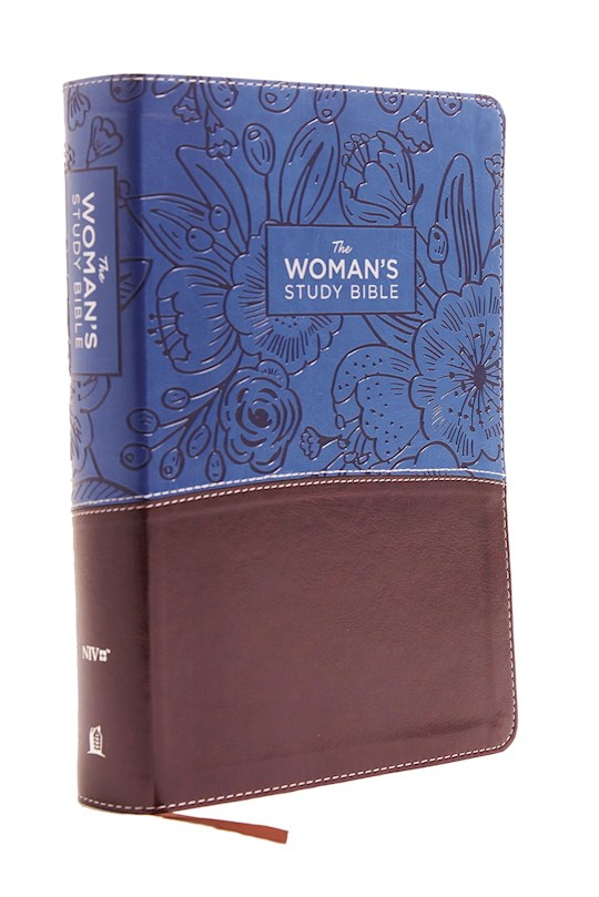 NIV Woman's Study Bible (Full-Color)-Blue/Brown Leathersoft | SHOPtheWORD