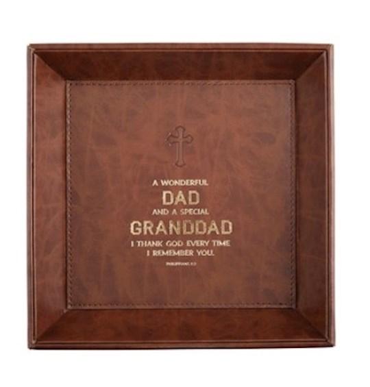 Tabletop Tray-Dad/Granddad (Philippians 1:3) (8.5 x 8.5)   SHOPtheWORD