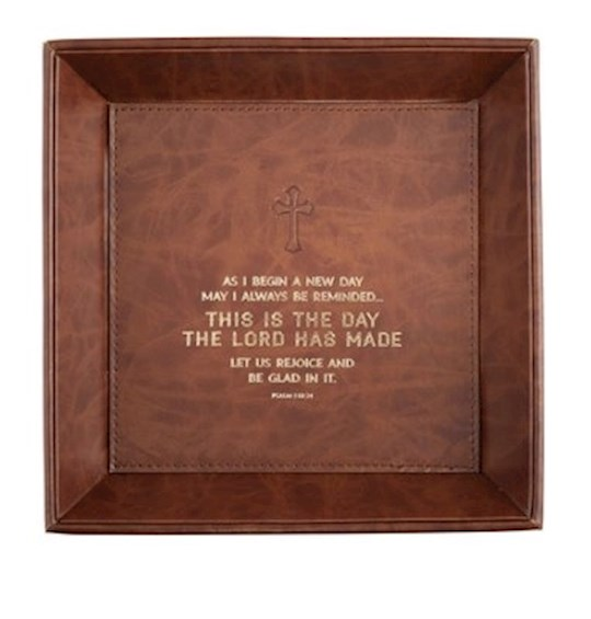 Tabletop Tray-This Is The Day (Psalms 118:24) (8.5 x 8.5) | SHOPtheWORD