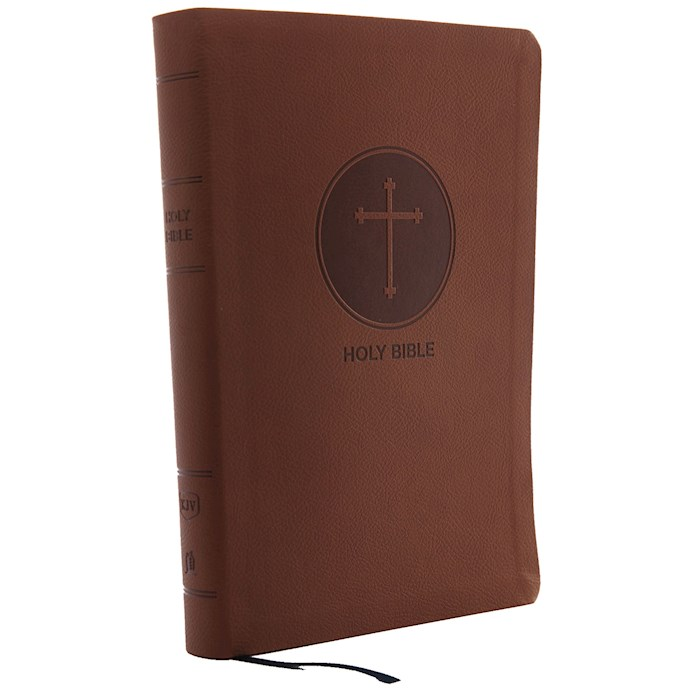 KJV Giant Print Reference Bible (Comfort Print)-Brown Leathersoft | SHOPtheWORD