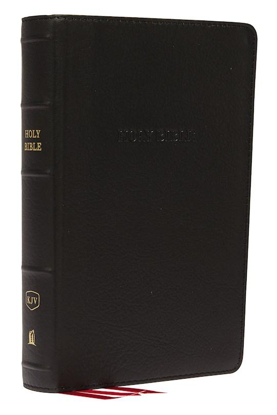 KJV Personal Size Giant Print Reference Bible (Comfort Print)-Black Genuine Leather | SHOPtheWORD