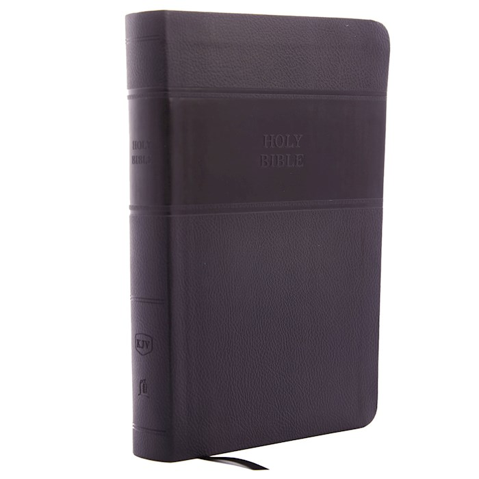 KJV Personal Size Giant Print Reference Bible (Comfort Print)-Black Leathersoft | SHOPtheWORD