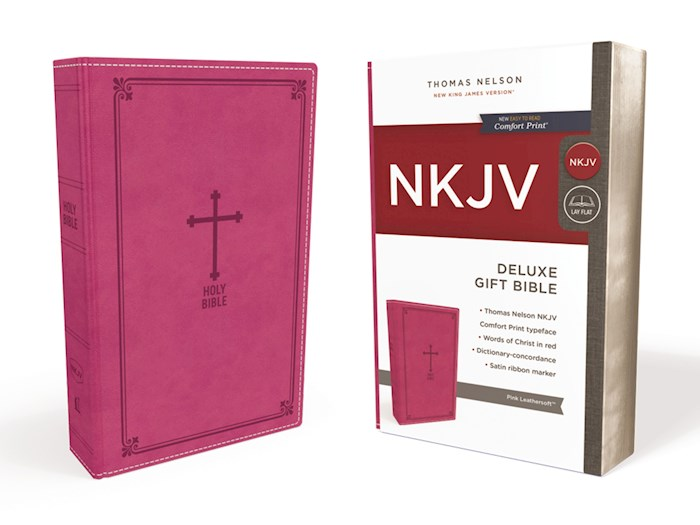 NKJV Deluxe Gift Bible (Comfort Print)-Pink Leathersoft | SHOPtheWORD