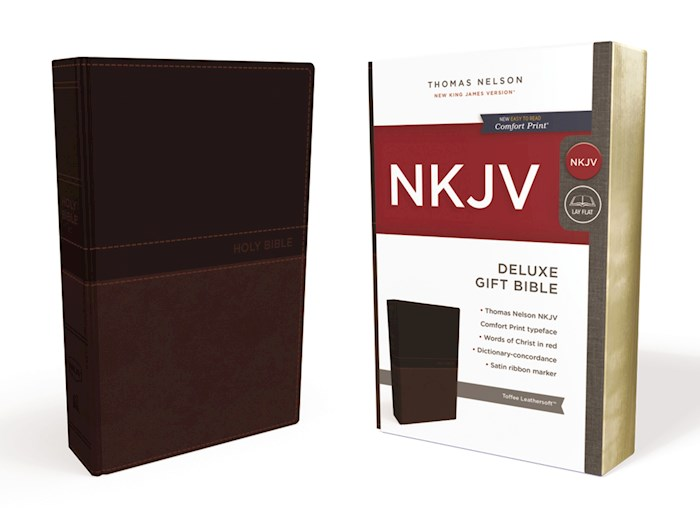 NKJV Deluxe Gift Bible (Comfort Print)-Toffee Leathersoft | SHOPtheWORD