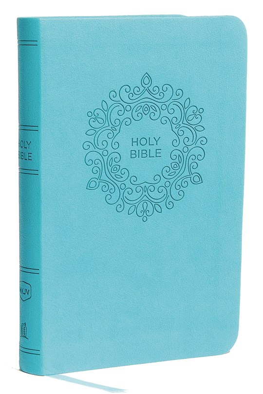 NKJV Thinline Bible/Compact (Comfort Print)-Turquoise Leathersoft | SHOPtheWORD