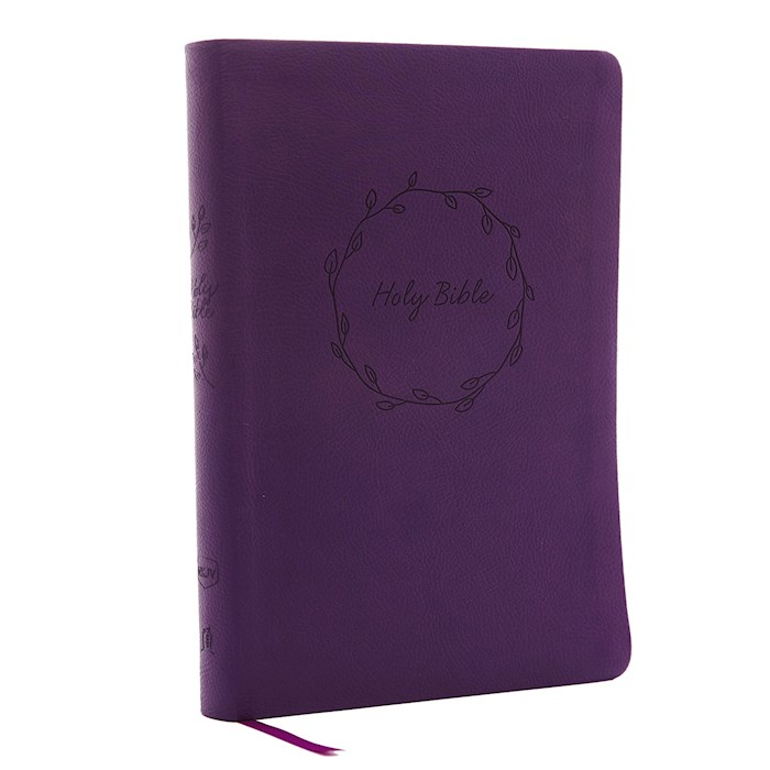 NKJV Thinline Bible/Large Print (Comfort Print)-Purple Leathersoft | SHOPtheWORD