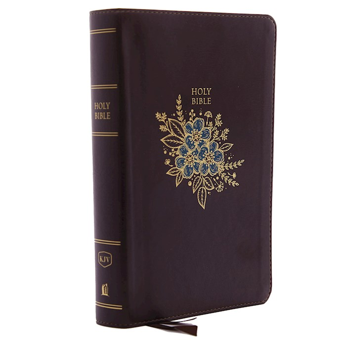 KJV Personal Size Giant Print Reference Bible (Comfort Print)-Burgundy Deluxe Leathersoft Indexed | SHOPtheWORD