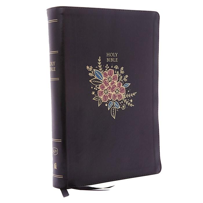 KJV Super Giant Print Reference Bible (Comfort Print)-Black Deluxe Floral Leathersoft | SHOPtheWORD