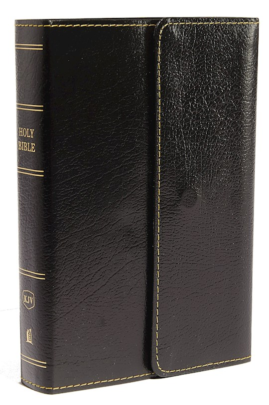 KJV Compact Large Print Reference Bible (Comfort Print)-Black Leatherflex w/Snap-Flap | SHOPtheWORD