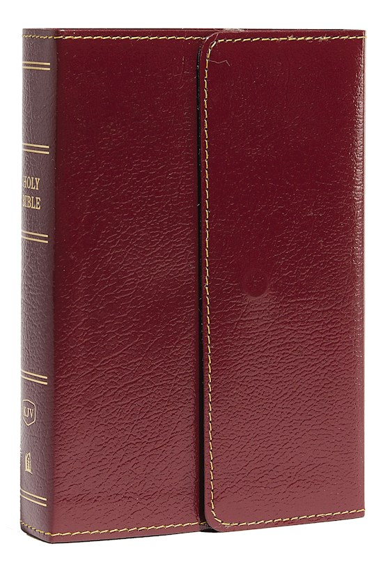 KJV Compact Large Print Reference Bible (Comfort Print)-Burgundy Leatherflex Snap-Flap  | SHOPtheWORD