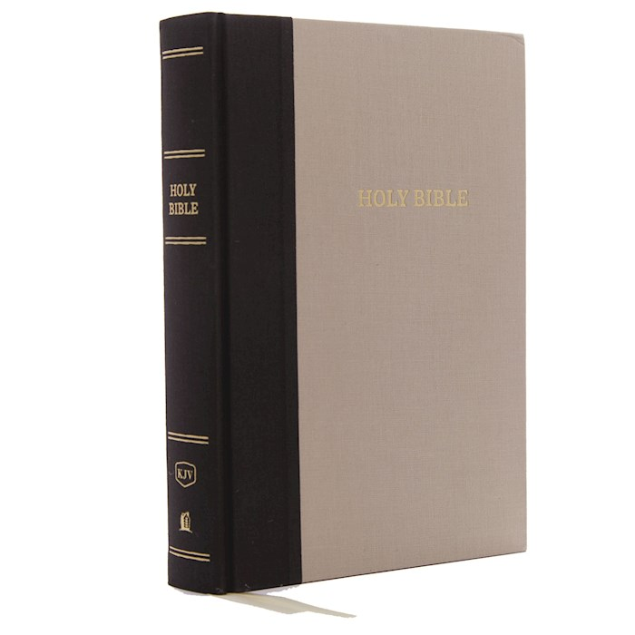 KJV Super Giant Print Reference Bible (Comfort Print)-Olive/Beige Cloth Over Board | SHOPtheWORD