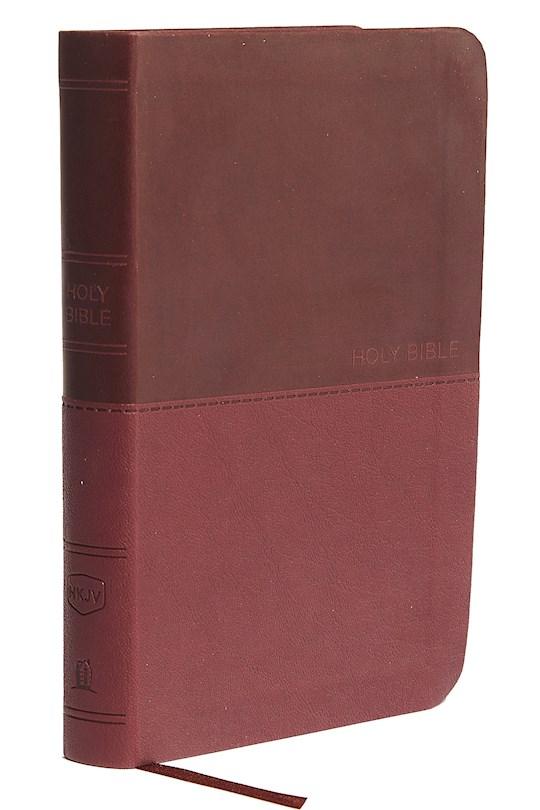 NKJV Thinline Bible/Compact (Comfort Print)-Burgundy Leathersoft  | SHOPtheWORD