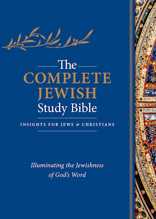 The Complete Jewish Study Bible-Black Genuine Calfskin Leather Indexed | SHOPtheWORD