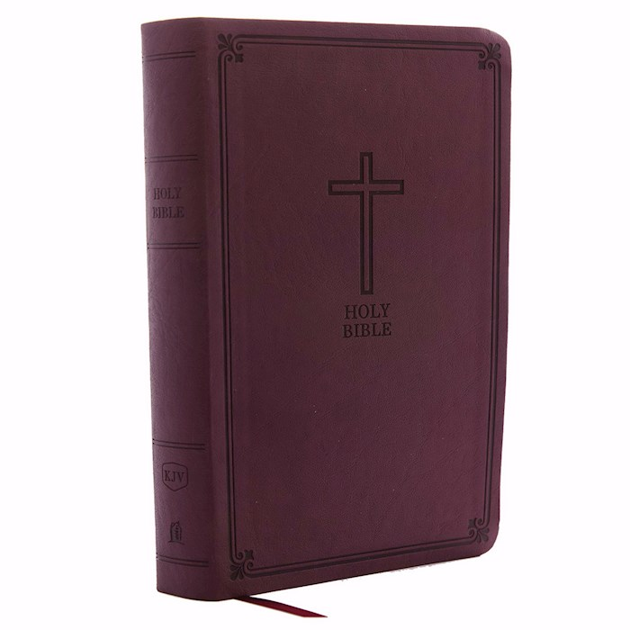 KJV Personal Size Giant Print Reference Bible (Comfort Print)-Burgundy Leathersoft Indexed | SHOPtheWORD