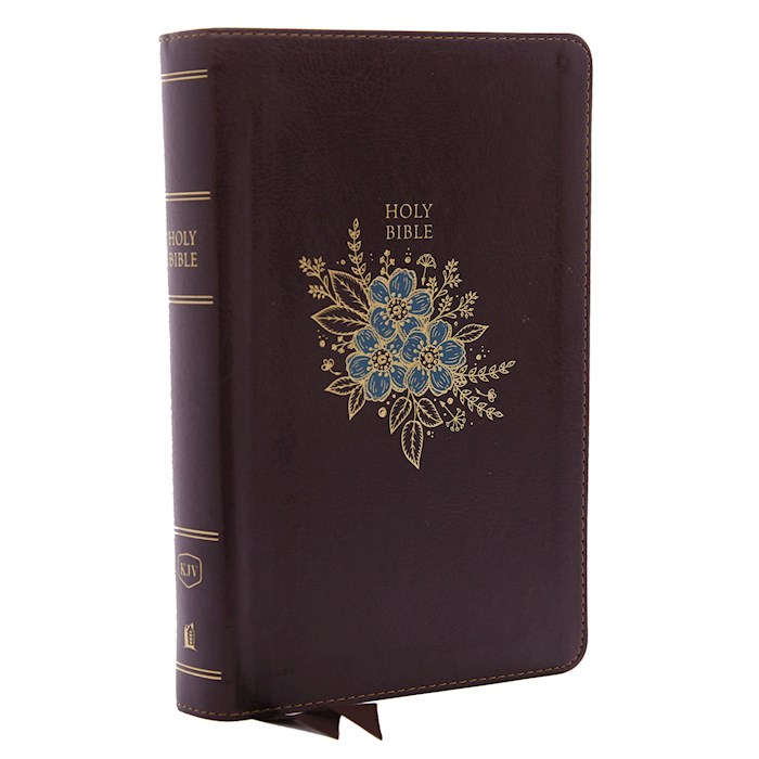 KJV Personal Size Giant Print Reference Bible (Comfort Print)-Burgundy Deluxe Leathersoft | SHOPtheWORD