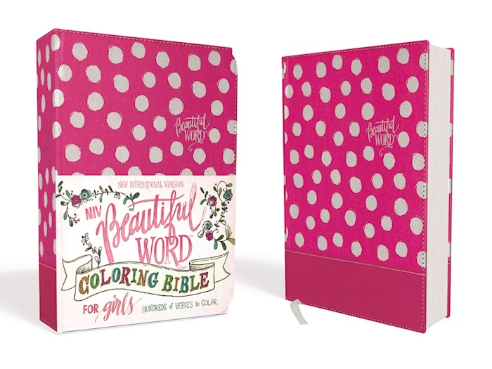 NIV Beautiful Word Coloring Bible For Girls-Pink Leathersoft | SHOPtheWORD