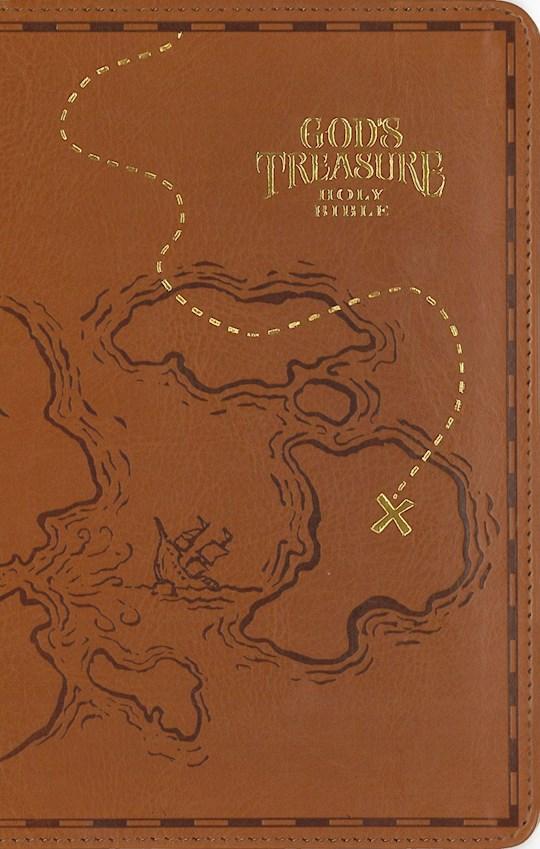 NIV God's Treasure Holy Bible-Dark Tan Leathersoft  | SHOPtheWORD